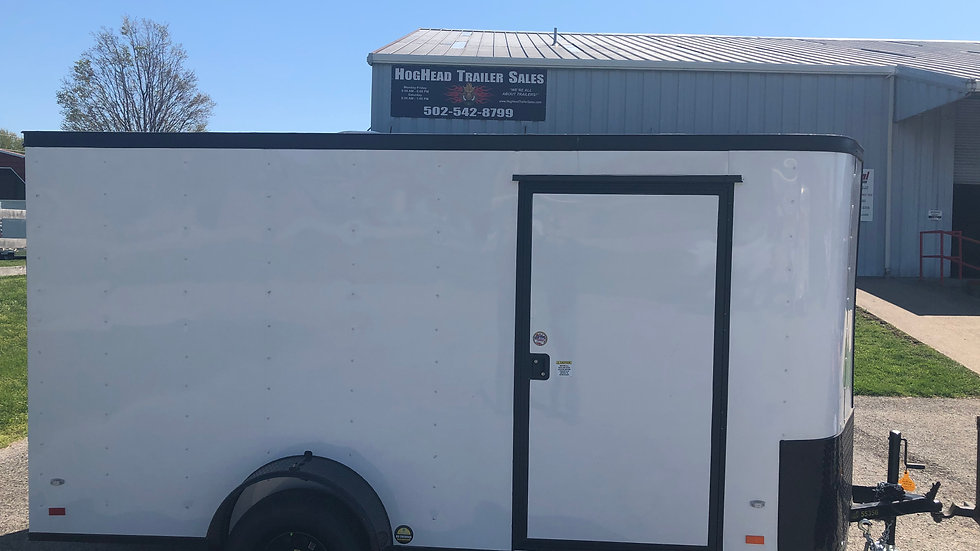 Covered Wagon 6'x12' Blacked Out Enclosed Trailer