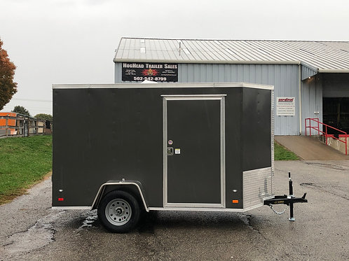 Covered 6'x10' Enclosed Charcoal Trailer