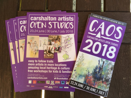 I am participating in Carshalton Artists Open Studios which starts Sat23/Sun24th June and 30th/1stJu