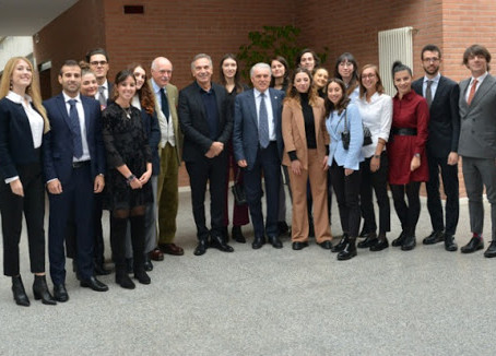 Il Presidente della Camera della Moda Carlo Capasa incontra il Biella Master