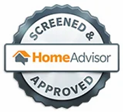 homeadvisor screened and approved badge.