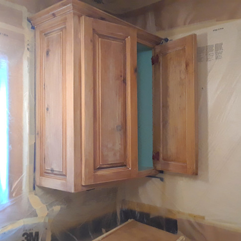 Before Cabinet Painting