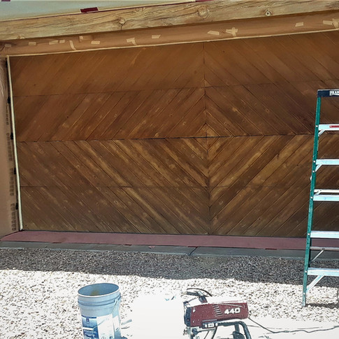 Before Exterior Stain