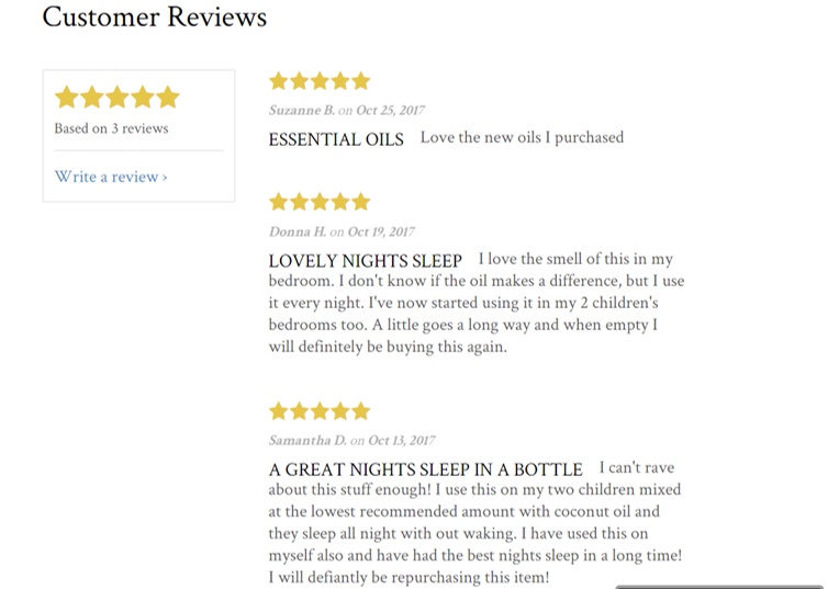 Mystic Moments Love a 5 Star Review!