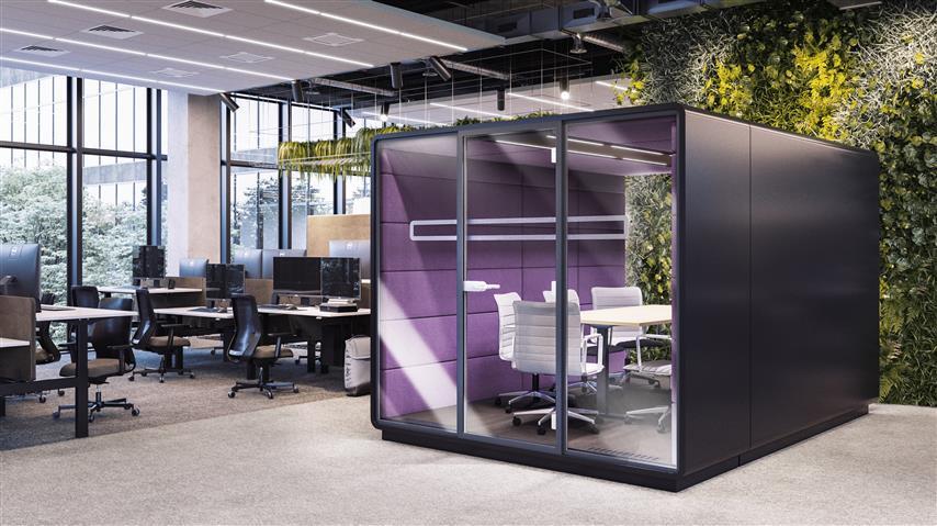 Hush Meet L 4 module meeting room