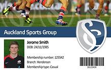 Membership Card, Sport, Barcode