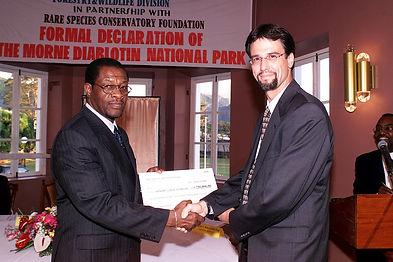 Dr. Reillo with Edison James