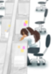 Office Life Illustration by Sunny Moon