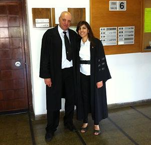 אורית וגבע בבית המשפט