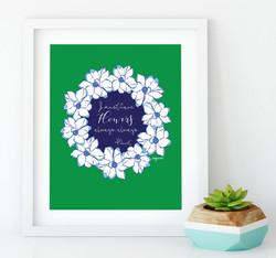 i must have flowers framed-01