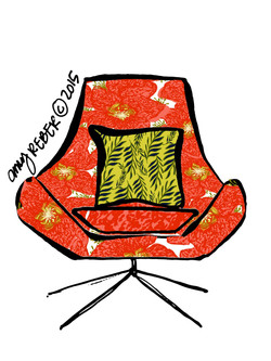 RED TROPICAL CHAIR