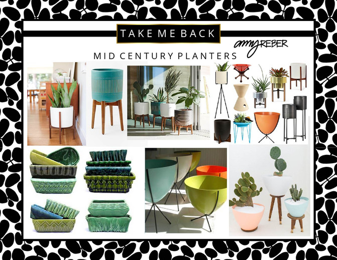 TAKE ME BACK Tuesday - Mid Century Planters