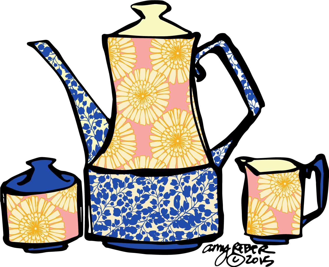 YELLOW DAISY TEA SET