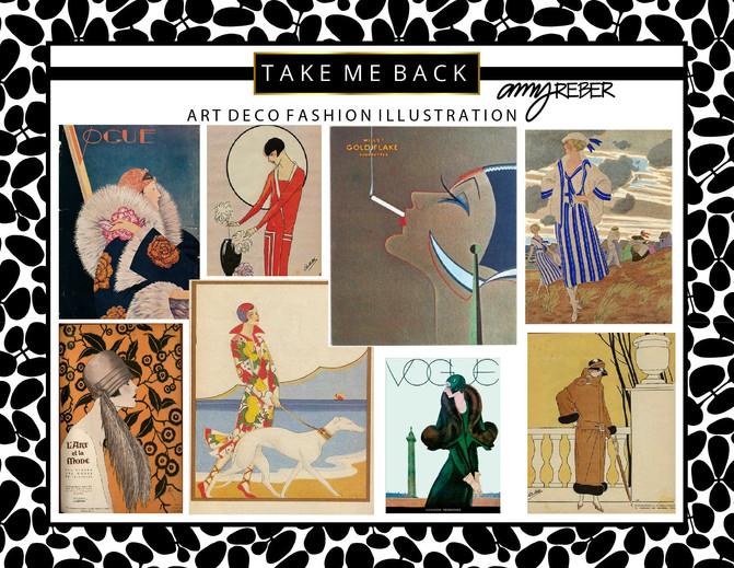 TAKE  ME  BACK  Tuesday - Art Deco Fashion Illustration