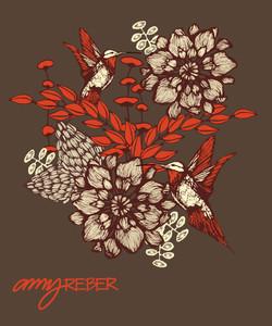 ORANGE HUMMINGBIRD