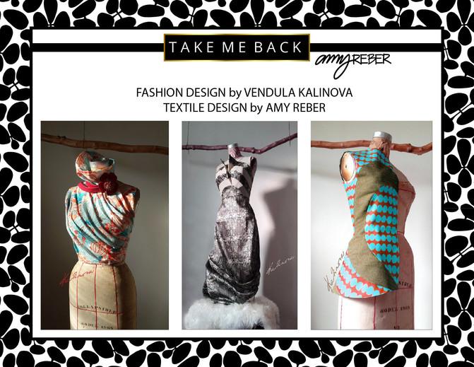TAKE ME BACK Tuesday - Fashion Design by Vendula Kalinova/Textile Design by Amy Reber