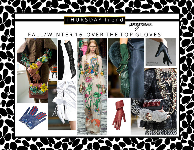 """THURSDAY TREND - """"Over the TOP gloves"""" - Fall/Winter 2016"""