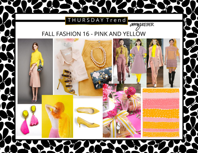 THURSDAY Trend - Fall Fashion 16 - Pink & Yellow