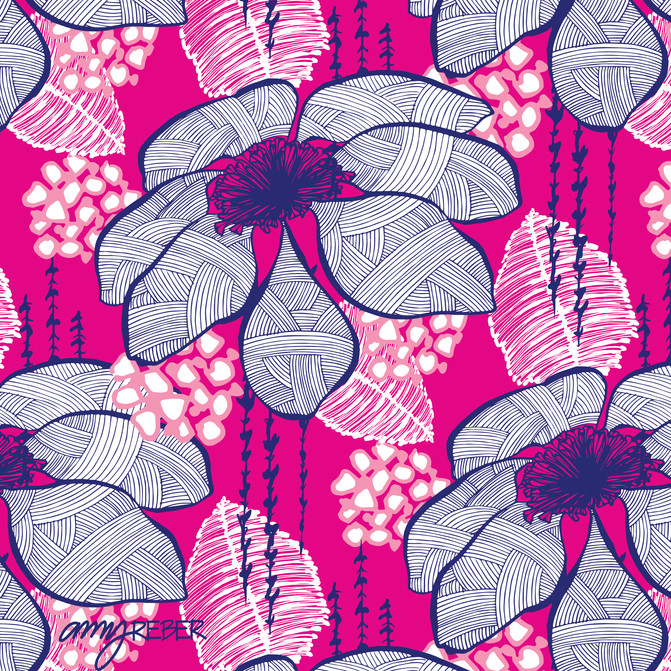 DESIGN of the WEEK! - Pretty Pink & Navy Floral