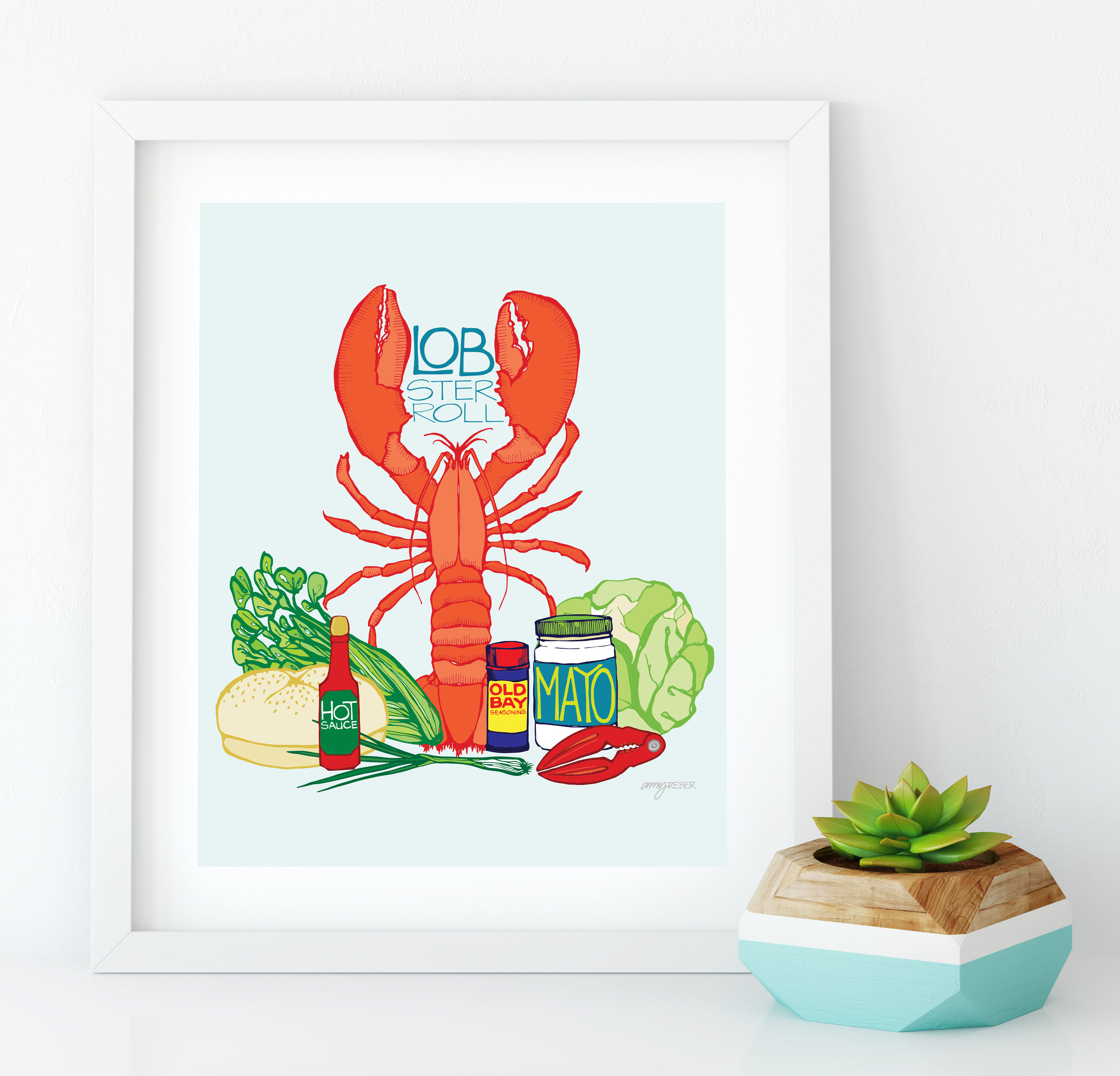 lobster roll framed-01
