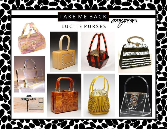 TAKE ME BACK Tuesday - Vintage Lucite Purses