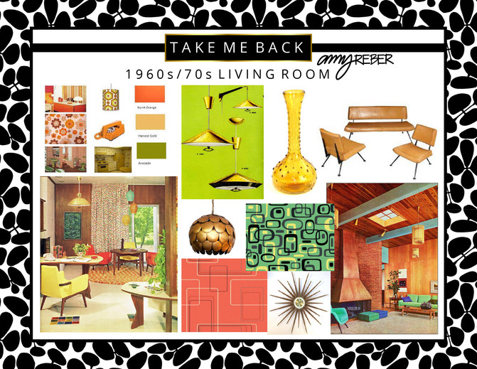 TAKE ME BACK Tuesday - 60s/70s Living Room