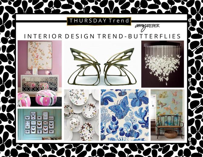 THURSDAY Trend - Interior Design Trend - Butterflies