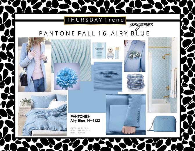 THURSDAY Trend - Pantone AIRY BLUE