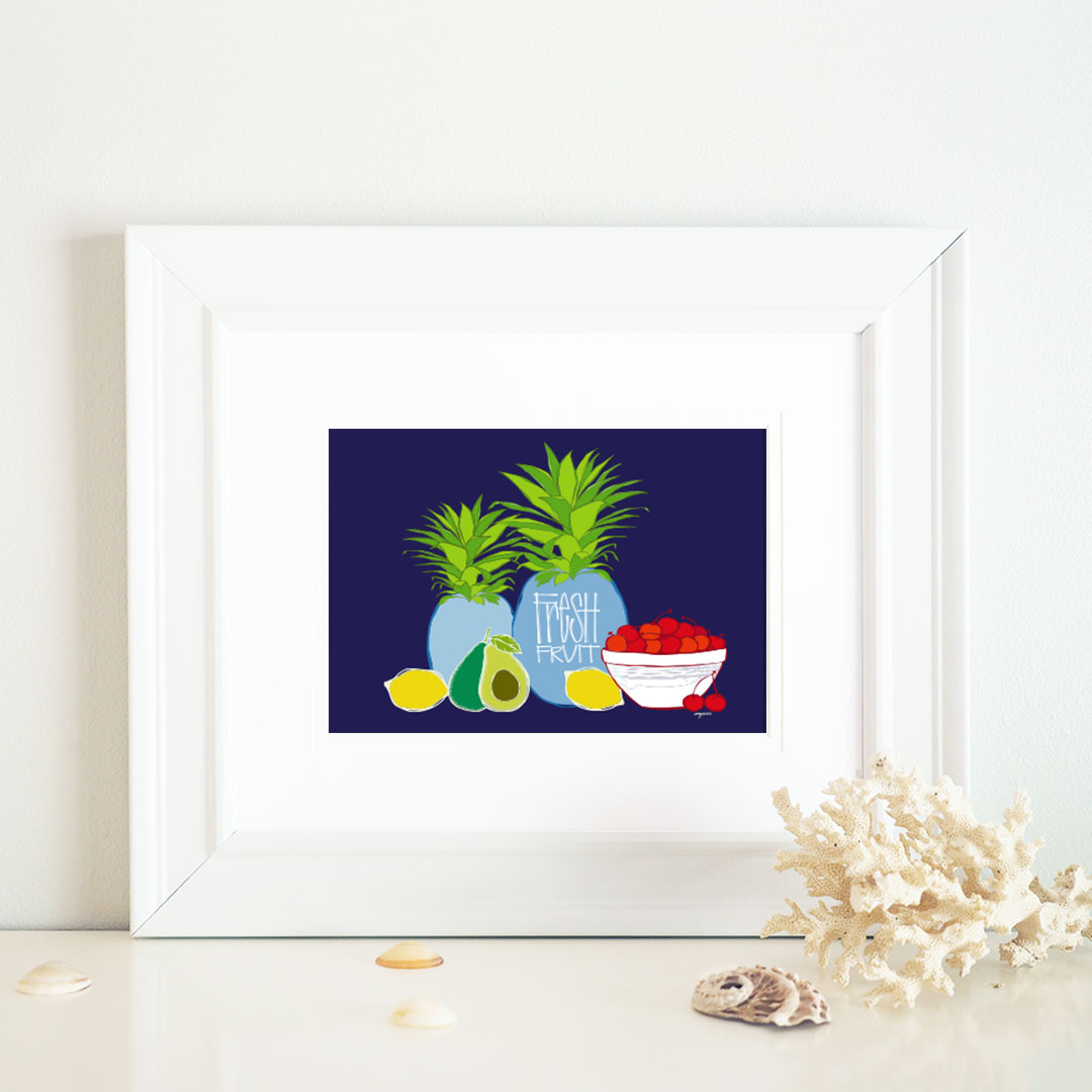 fresh fruit group framed