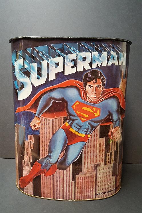 Vintage Superman Trash Can – Cheinco USA