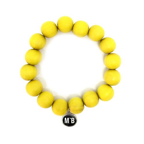 Holzarmband Gelb