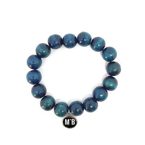 Holzarmband Blau