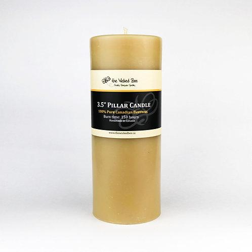 "100% Pure Beeswax Pillar (3.5""x9"" Pillar)"