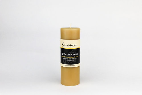 "100% Pure Beeswax Pillar (2""x6"")"