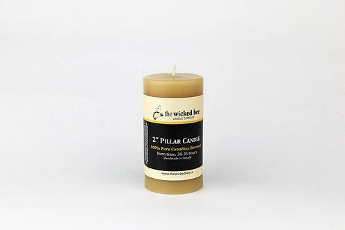 "100% Pure Beeswax Pillar (2""x4"")"