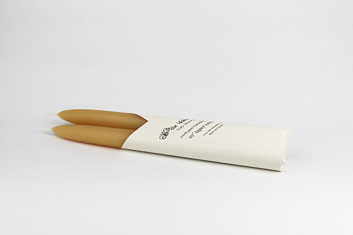 """100% Pure Beeswax 10"""" Taper (pair)"""