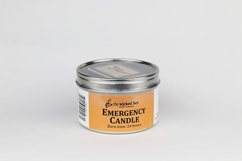 100% Pure Beeswax Emergency Tin Candle