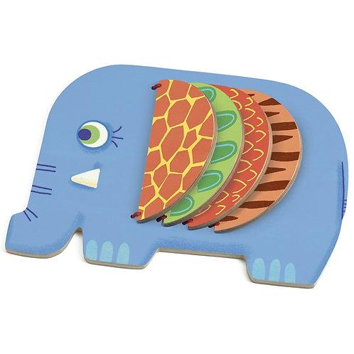 Bébi lapozó, elefánt-djeco
