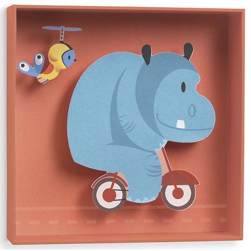 djeco Hippo 3D-s fali dekoráció