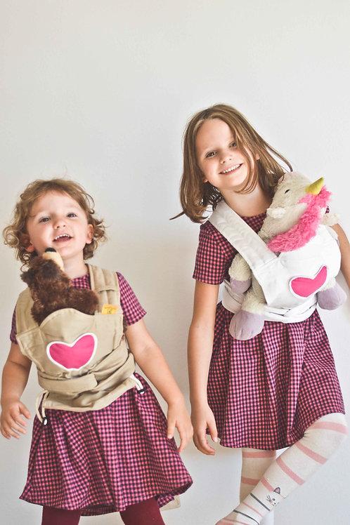 Játék horodzó- Drapp/pink szívvel