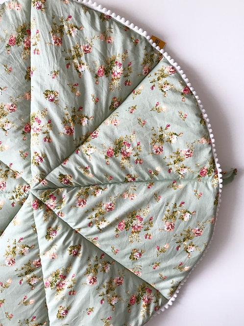 Tavaszi rét- hasalós játszószőnyeg, kicsi-bogyós szélű