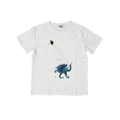 Special Collection - Sea Life  Watercolor Painting Stretchable T-Shirt