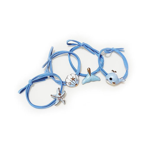 Others - Ocean Blue Nylon Elastic Hair Band Headwear