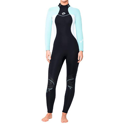 Special Collection - Nixie Full Wetsuit 3mm Glacier Blue