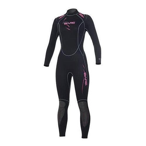 Bare Scuba Wears - Sport Women Fullsuit 3/2mm Pink