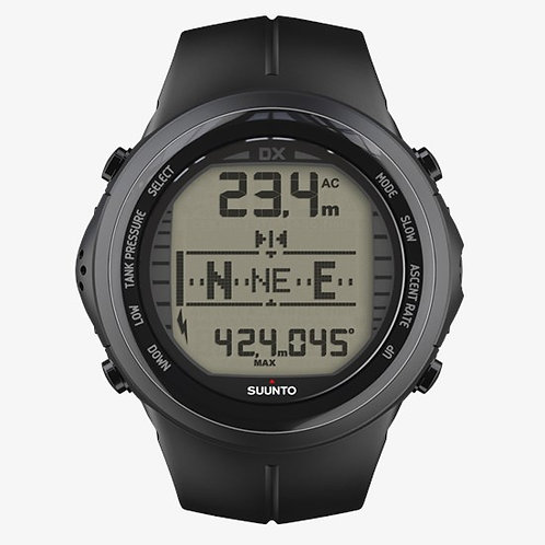 Suunto Dive Computers - DX Black Elastomer with USB