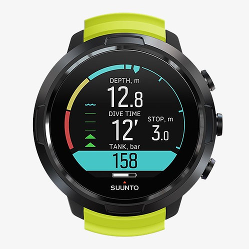 Suunto Dive Computers - D5 with USB (Black Lime / All Black)