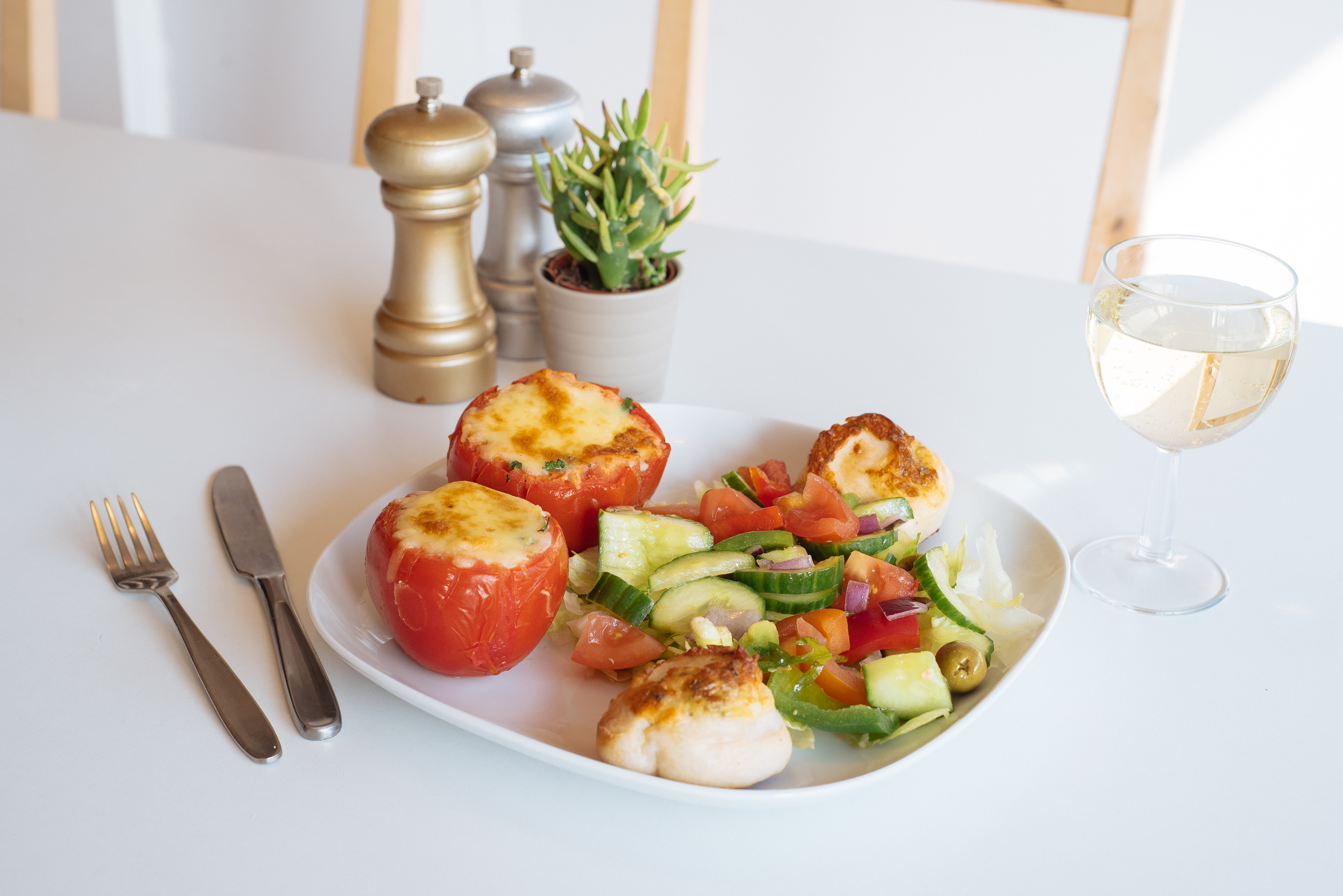 Stuffed tomatoes & Salad .jpg