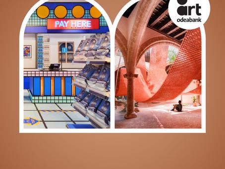 Sanat Dolu Pop-Up Süpermarket & Tarihi Avluda Kontrast Yaratan Enstalasyon