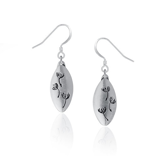 Dandelion Earrings | Amos Pewter